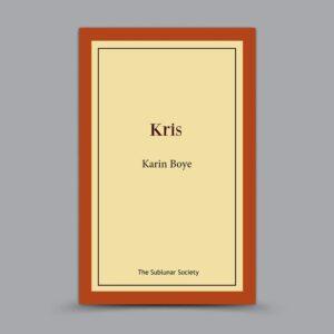 Karin Boye: Kris