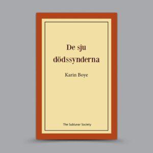 Karin Boye: De sju dödssynderna