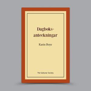 Karin Boye: Dagboksanteckningar