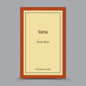 Karin Boye: Varia