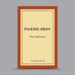 Dan Andersson: Enskilda dikter