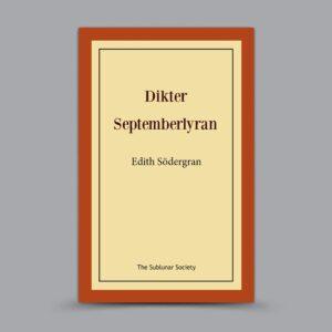 Edith Södergran: Dikter / Septemberlyran