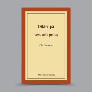 Ola Hansson: Dikter på vers och prosa